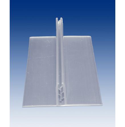 Transp. skyltfot 100x37x150mm, tar 3-6mm