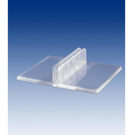 Menyhållare rak, transparent, 50x40mm