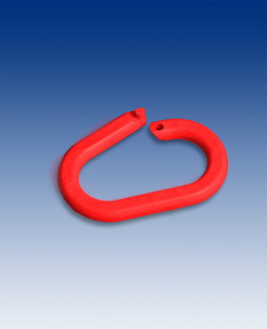 Låsbar oval ring 20mm, Röd
