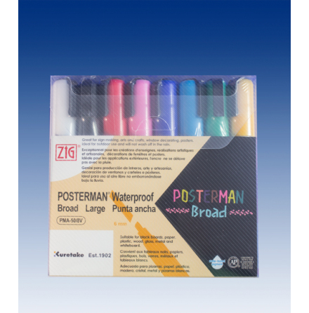 1 set med 8 st Posterman 6mm