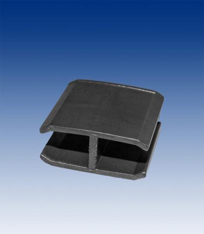 H-clips till ram, 1 par svart