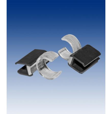 Rörfäste D16 mm för ram, transp/svart